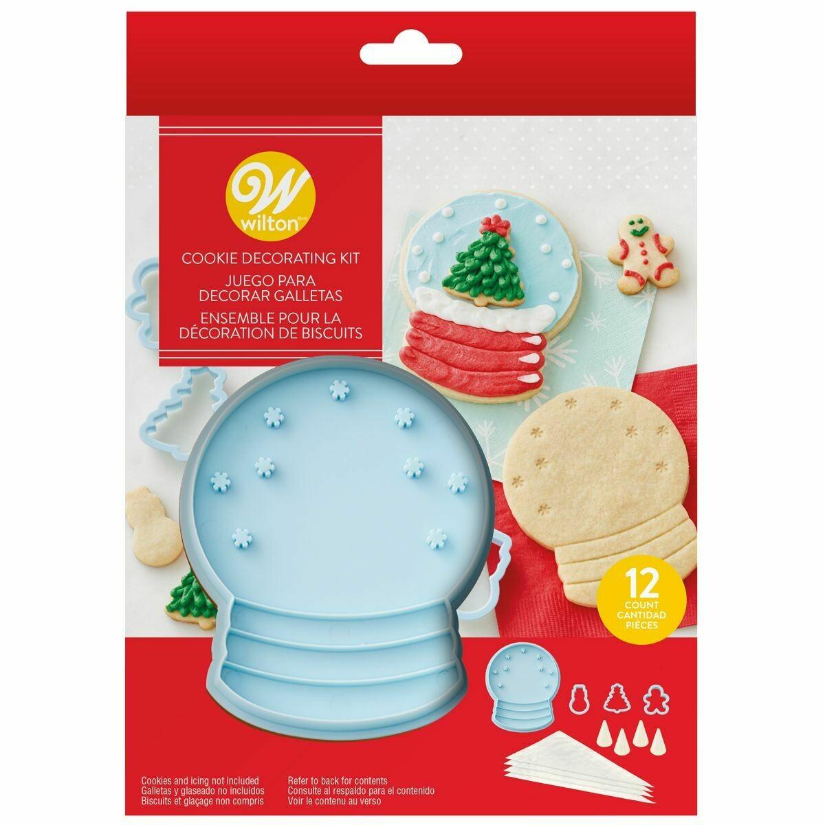 Wilton Cookie Stamp Kit 'SNOW GLOBE' - Χριστουγεννιάτικο Σετ κατασκευής μπισκότων