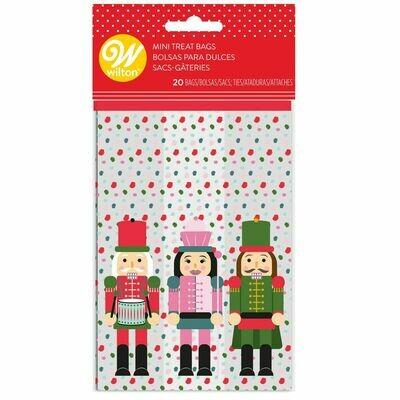 Wilton Christmas Mini Treat Bags -NUTCRACKER -Pack of 20 - Σακουλάκια για Γλυκά Καρυοθραύστης