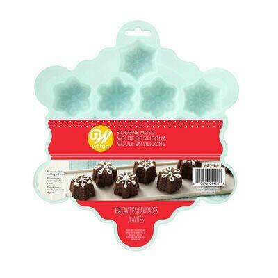 Wilton Christmas Petite Silicone Mould -SNOWFLAKES - Φόρμα ψησίματος Σιλικόνης Χιονονιφάδες