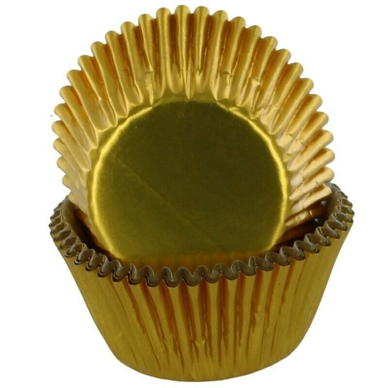 Baked With Love Cupcake Cases -METALLIC GOLD - Θήκες Ψησίματος -Μεταλλικό Χρυσό 50 τεμ