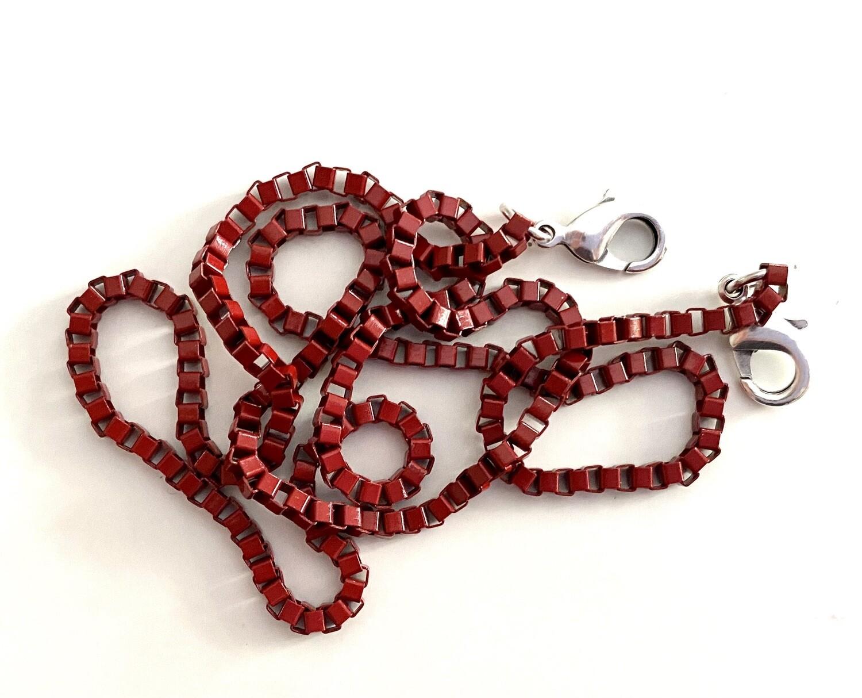 Αλυσίδα για Μάσκα -RED Closed Link Chain