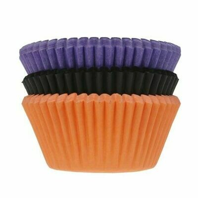 House of Marie Cupcake Cases HALLOWEEN -ORANGE, PURPLE, BLACK -Θήκες Ψησίματος για Cupcakes 75τεμ