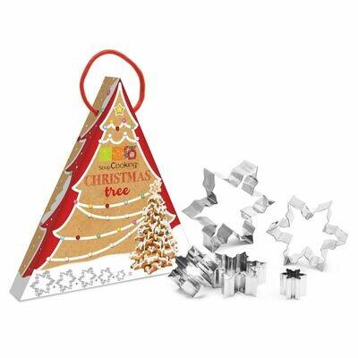 ScrapCooking -COOKIE TREE KIT -Σετ Ανοξείδωτα Κουπ πατ Χιονονιφάδες για Κατασκευή Μπισκοτόδεντρου 5τεμ.