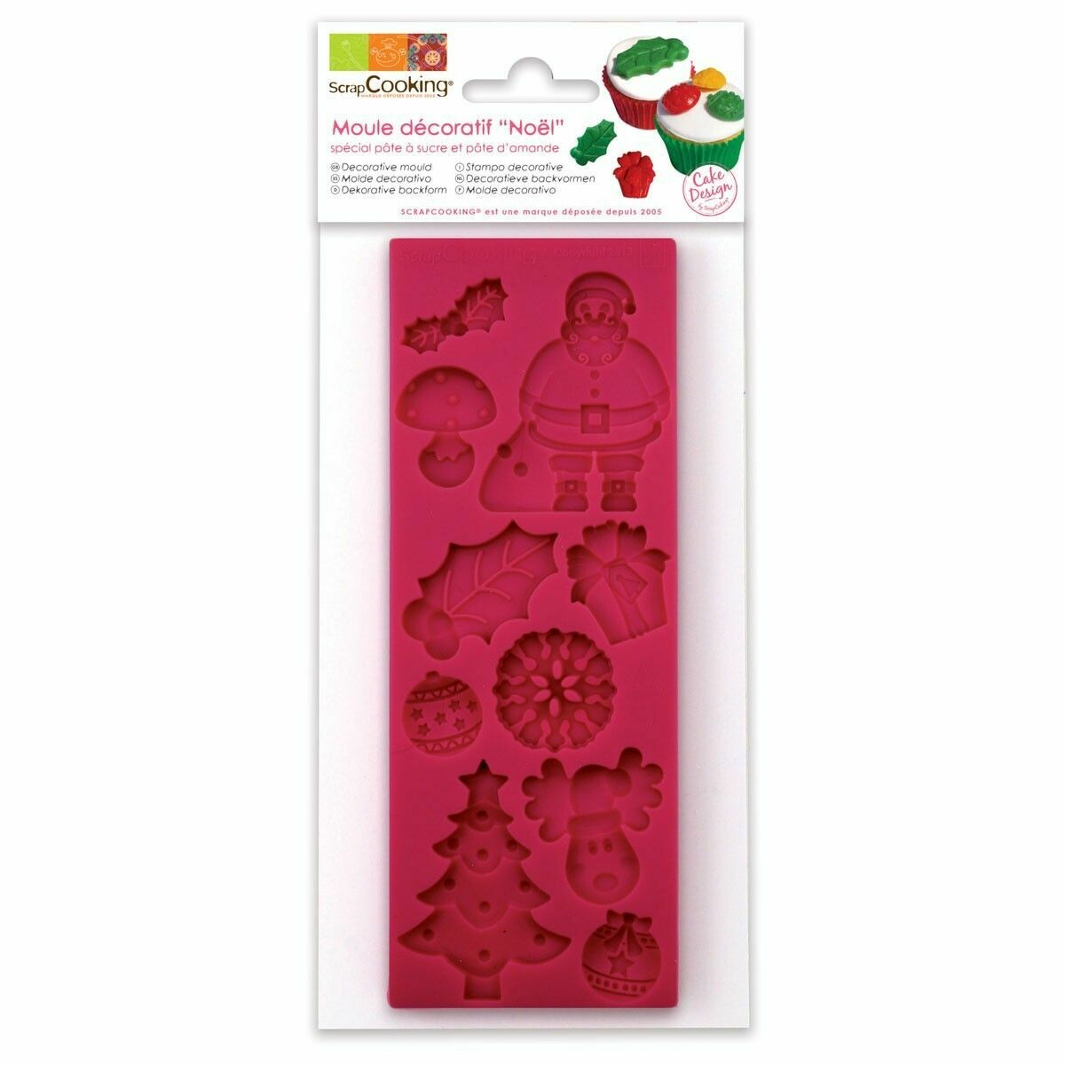 Scrapcooking Silicone Mould -CHRISTMAS THEME - Καλούπι Σιλικόνης Χριστουγεννιάτικα διακοσμητικά