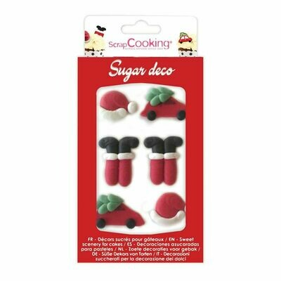 ScrapCooking Sugar Decorations -SANTA CLAUS 6Τμχ - Βρώσιμα Χριστουγεννιάτικα Ζαχαρωτά