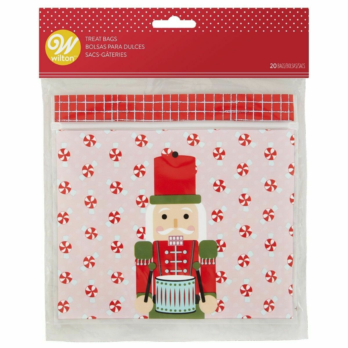 Wilton Christmas Resealable Treat Bags -NUTCRACKER -Pack of 20 - Σακουλάκια για Γλυκά Καρυοθραύστης
