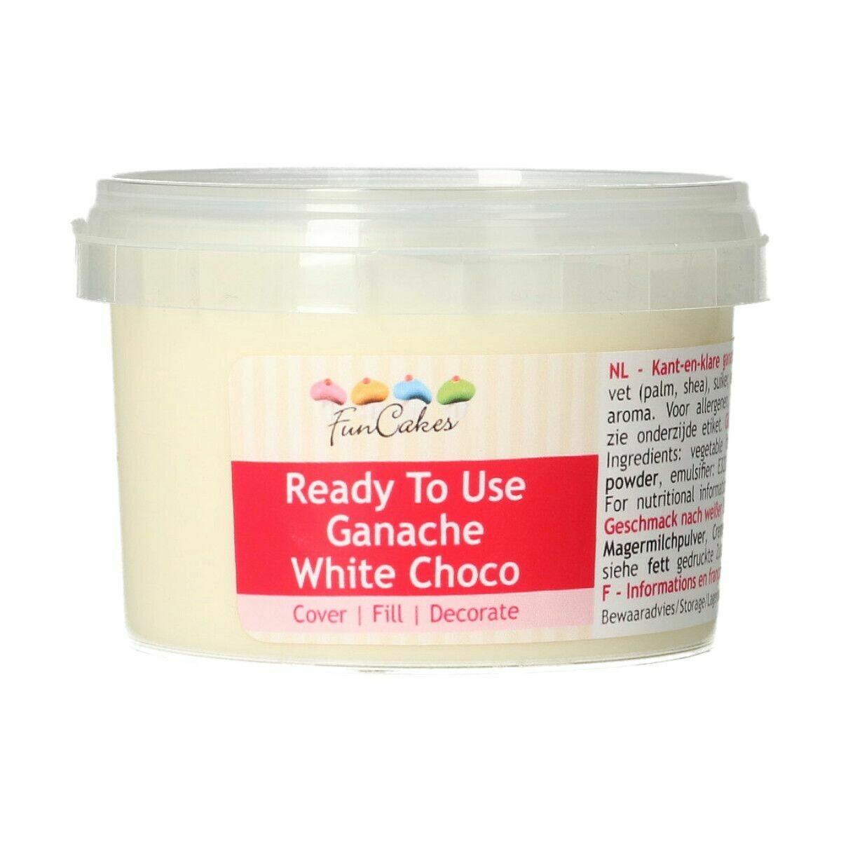 FunCakes Ready To Use Ganache -WHITE CHOCO 260g - Γκανάζ λευκής σοκολάτας