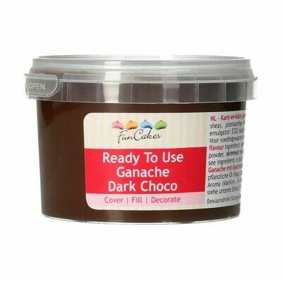 FunCakes Ready To Use Ganache -DARK CHOCO 260g - Γκανάζ μαύρης σοκολάτας
