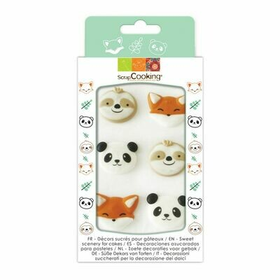 Scrapcooking Sugar Decorations SWEET ANIMALS  6 τεμ - Βρώσιμα Διακοσμητικά Ζαχαρωτά Ζώα του Δάσους