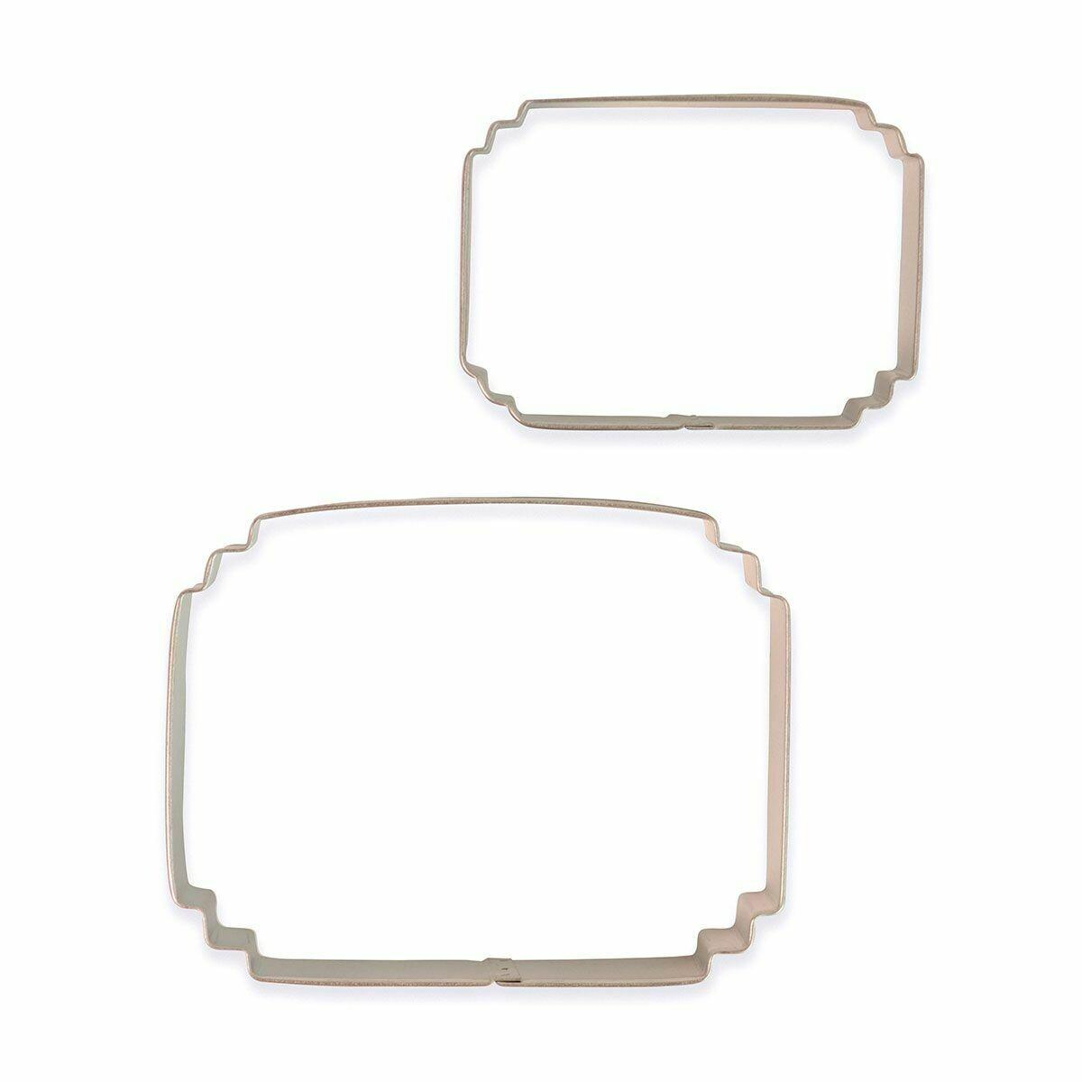 PME Set of 2 Plaque Cutters -STYLE 7 - Σετ 2τεμ κουπ πατ Κορνίζες/πλάκες