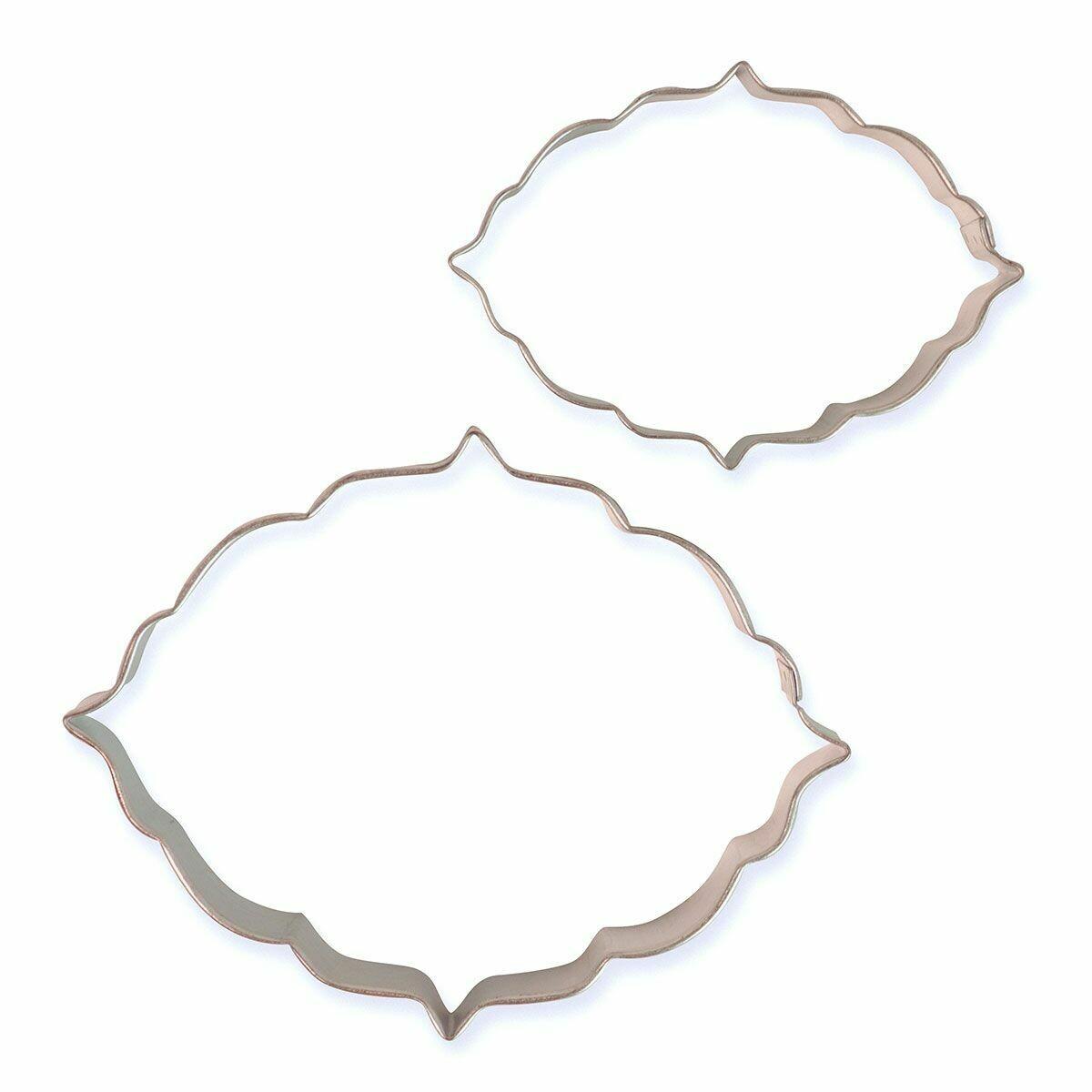 PME Set of 2 Plaque Cutters -STYLE 6 - Σετ 2τεμ κουπ πατ Κορνίζες/πλάκες