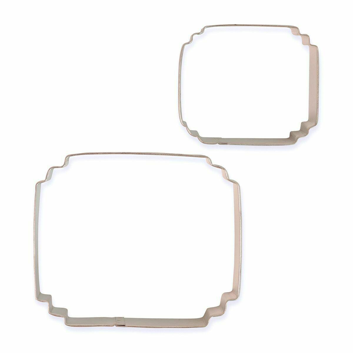 PME Set of 2 Plaque Cutters -STYLE 5 - Σετ 2τεμ κουπ πατ Κορνίζες/πλάκες