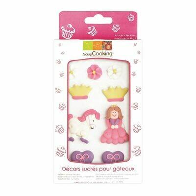 Scrapcooking Sugar Decorations PRINCESS 9 τεμ - Βρώσιμα Διακοσμητικά Ζαχαρωτά Πριγκίπισσα