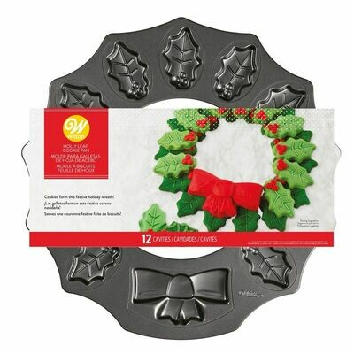 Wilton Baking Pan -HOLLY LEAF WREATH - Φόρμα Ψησίματος Μπισκότων Χριστουγεννιάτικο Στεφάνι