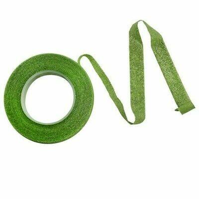 PME Floral Tape -GREEN WITH SILVER SPARKLE 12mm -Κολλητική Ταινία Λουλουδιών Πράσινο με Ασημί Γκλίτερ