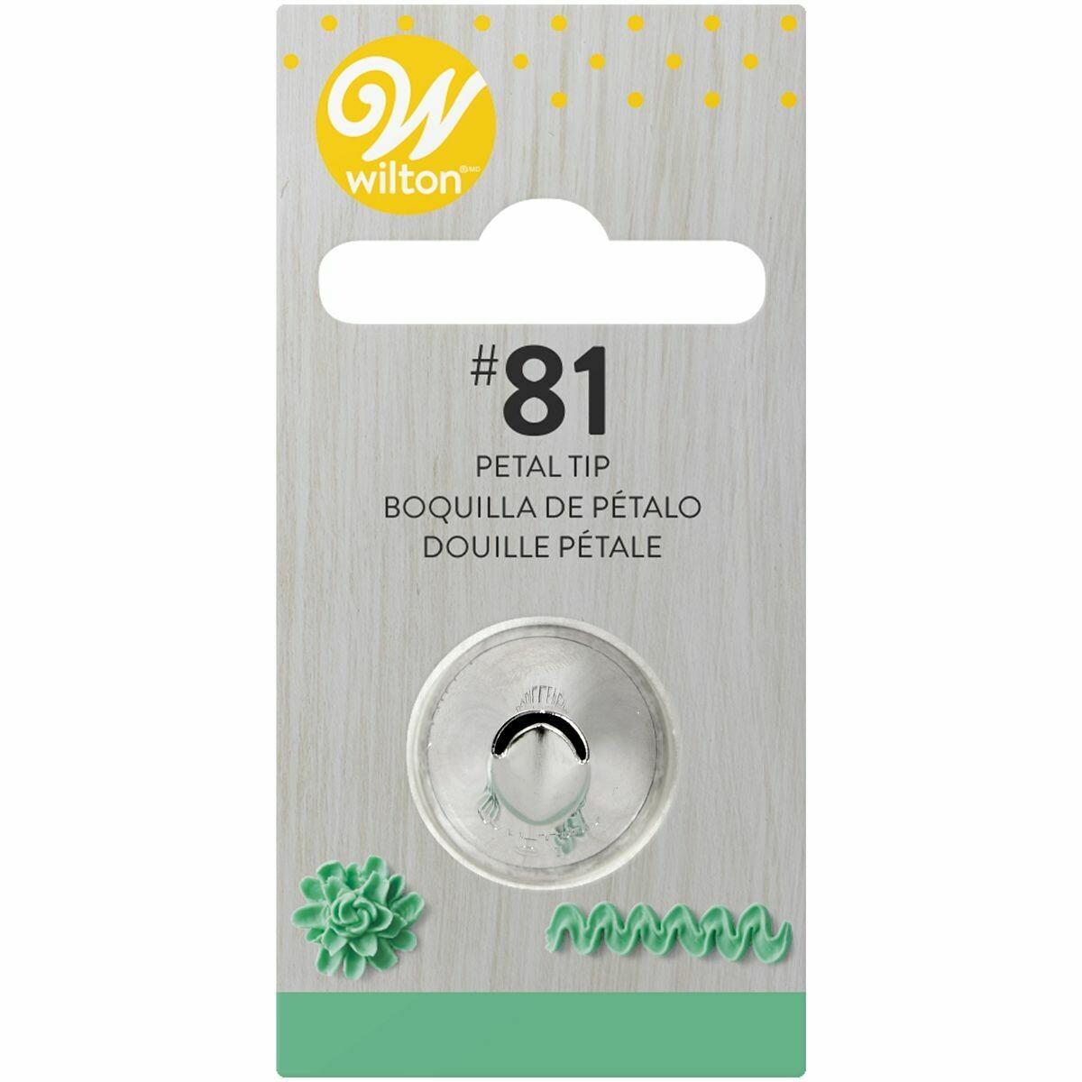 WILTON Nozzle -SPECIALITY TIP No.81 - Μύτη κορνέ Πέταλο Λουλουδιού