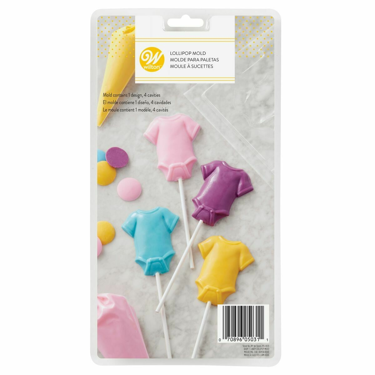 Wilton Lollipop Mould Baby Tee - Καλούπι για Γλειφιτζούρι Φορμάκι Μωρού