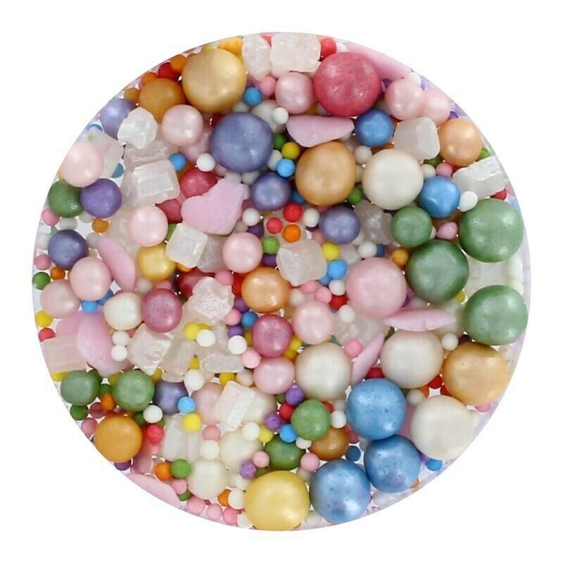 Purple Cupcakes Sprinkle Mix -ICE CREAM -90ρ - Μείγμα Ζαχαρωτών σε Παστέλ Χρώματα