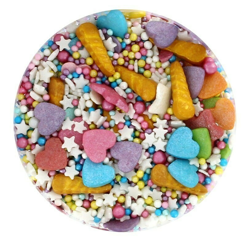 Purple Cupcakes Sprinkle Mix -UNICORN DREAMS-90ρ - Μείγμα Ζαχαρωτών Μονόκερος