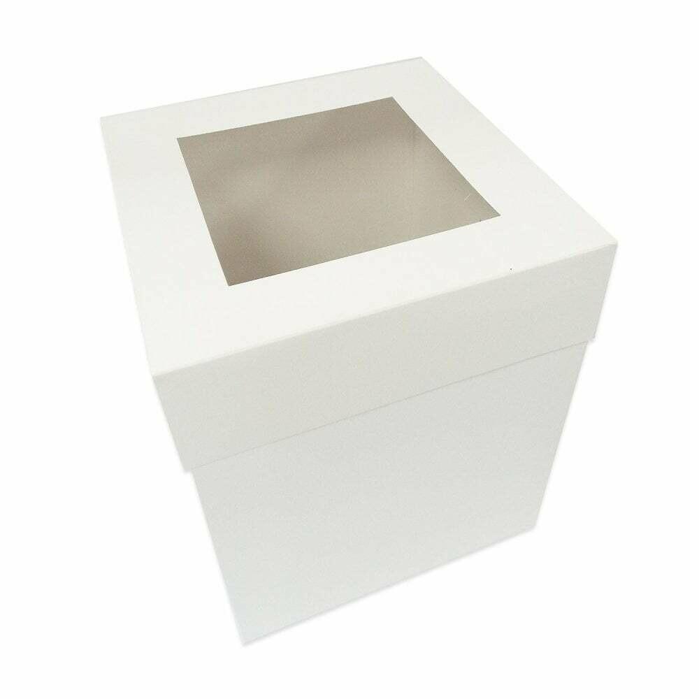 Extra Deep Cake Box with Window 30cm -Ψηλό Κουτί με Διάφανο Καπάκι 30εκ με Ύψος 30εκ