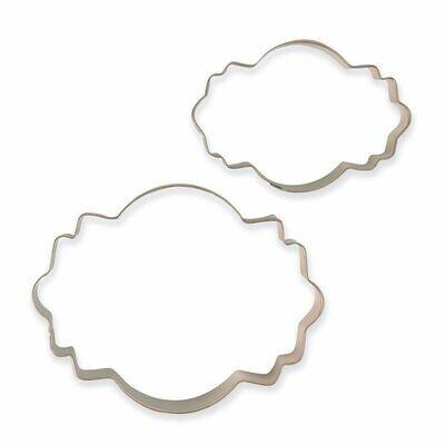 PME Set of 2 Plaque Cutters -STYLE 4 - Σετ 2τεμ κουπ πατ Κορνίζες/πλάκες
