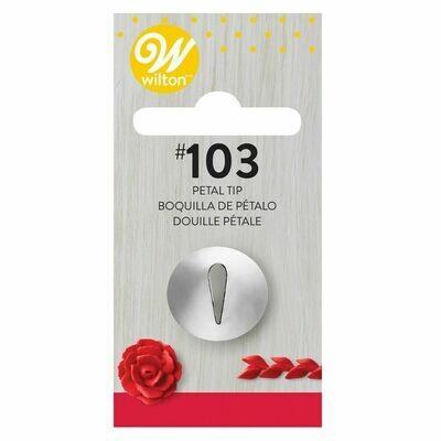 WILTON Nozzle -PETAL No.103 - Μύτη Κορνέ Πέταλο Λουλουδιού