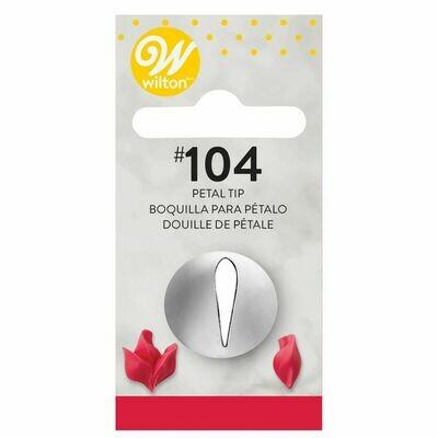 WILTON Nozzle -PETAL No.104 - Μύτη Κορνέ Πέταλο Λουλουδιού