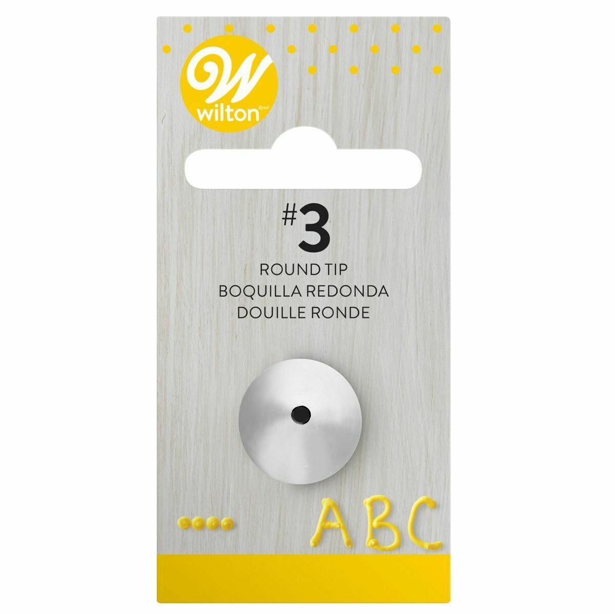 WILTON Nozzle -ROUND No.3 - Μύτη Κορνέ Στρογγυλή
