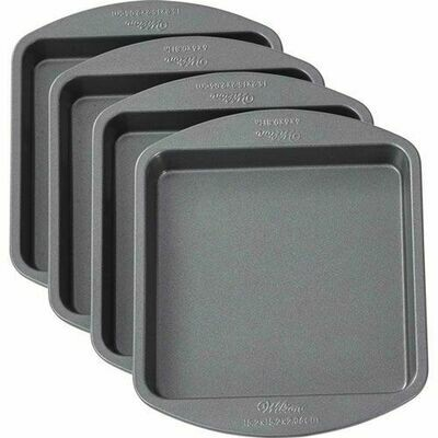 Wilton Baking Pans -EASY LAYERS -SQUARE 15εκ -Σετ με 4 τετράγωνα Ταψιά