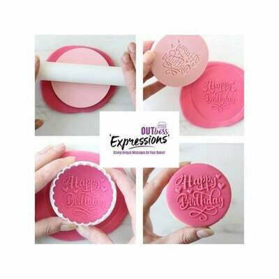 Sweet Stamp -OUTboss Expressions -Trendy 'Happy Birthday' - Σφραγίδα