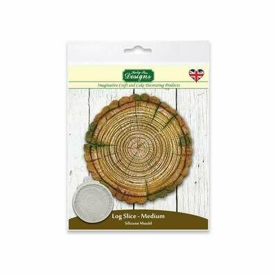 Katy Sue Silicone Mould -LOG Slice Mould -MEDIUM - Καλούπι Σιλικόνης φέτα Κορμού Δέντρου