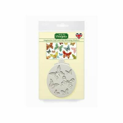 Katy Sue Silicone Mould -MINI-BUTTERFLIES - Καλούπι Σιλικόνης Πεταλούδες σε διάφορα μεγέθη