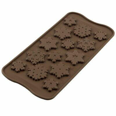 Silikomart Chocolate Mould Choco -FROZEN - Καλούπι Σιλικόνης για Σοκολατένιες χιονονιφάδες