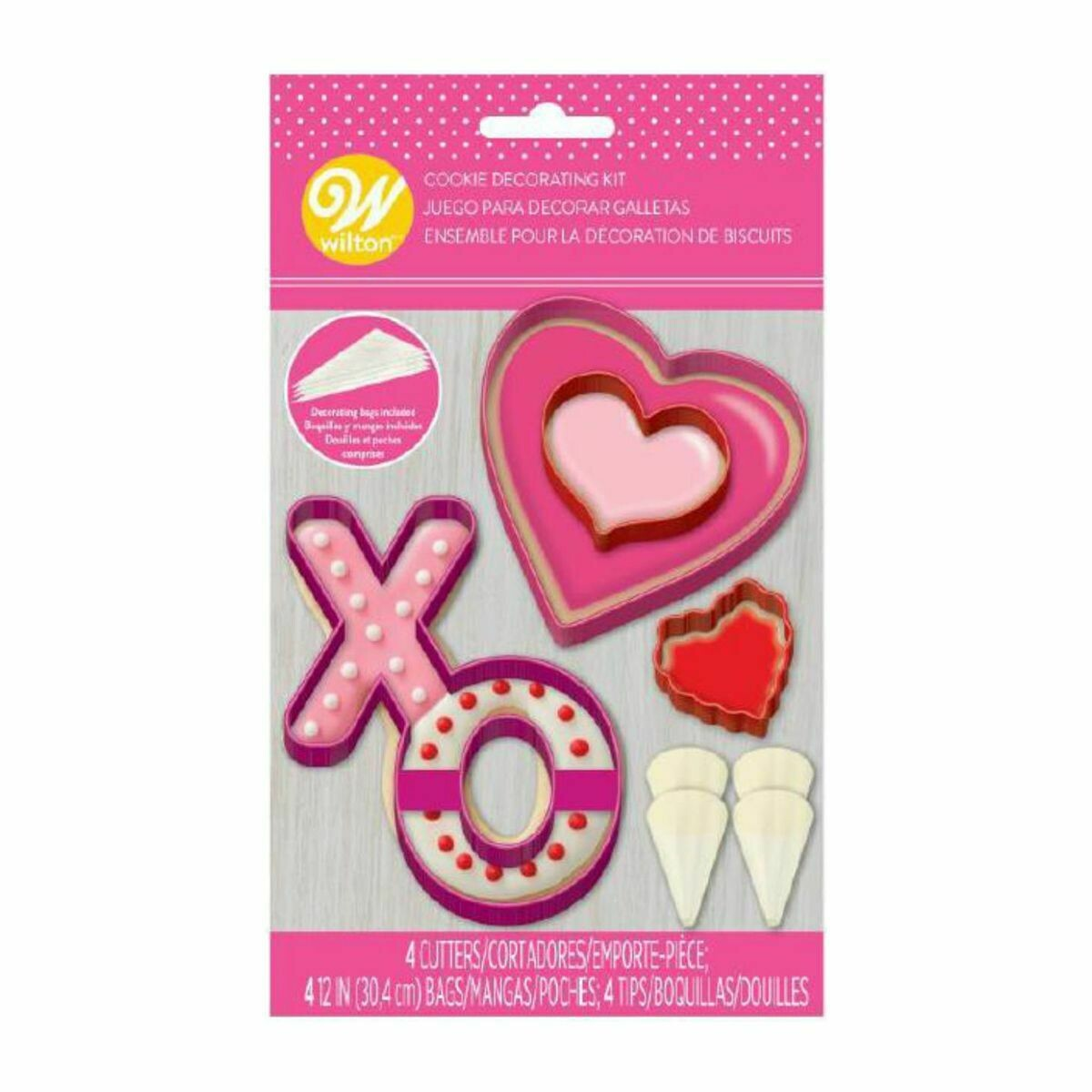 Wilton Valentine Cookie Decorating Kit - Σετ κατασκευής και διακόσμησης μπισκότων με θέμα την Αγάπη