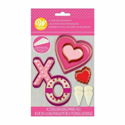 Wilton Decorating Kit for VALENTINE COOKIES Σετ κατασκευής και διακόσμησης μπισκότων με θέμα την Αγάπη