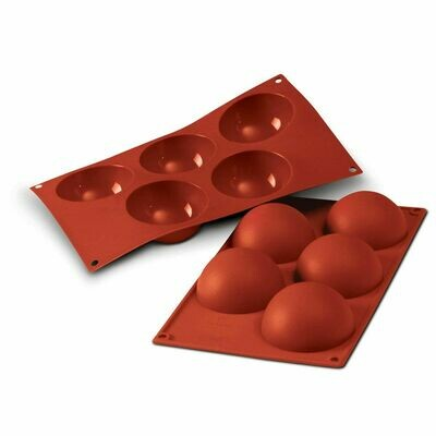 Silikomart - Semisphere Mould -Καλούπι Σιλικόνης για 5 Ημισφαίρια Πολύ Μεγάλα-8εκ