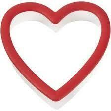 Wilton Plastic Grippy Cutter -HEART -Κουπ πατ Καρδιά με λαβή σιλικόνης 9εκ