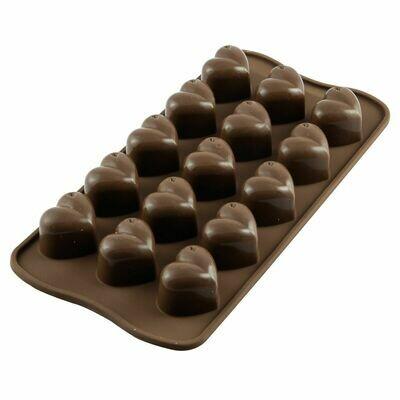 Silikomart Chocolate Mould -HEARTS 'Monamour' - Καλούπι σιλικόνης για 15 σοκολατένιες καρδιές