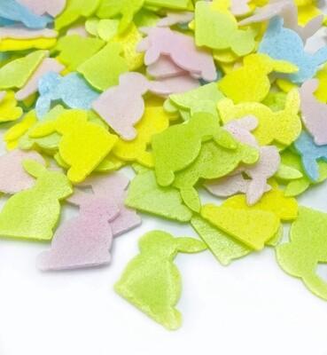 Happy Sprinkles - EASTER BUNNIES 14g -Wafer Μείγμα Ζαχαρωτών Χρωματιστά Κουνελάκια από Φύλλο Βάφλας