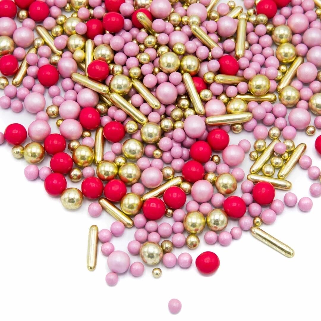 Happy Sprinkles Mix -GIRL GANG 180g - Μείγμα Ζαχαρωτών σε Ροζ και Χρυσές Αποχρώσεις