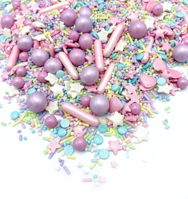 Happy Sprinkles Mix -PASTEL VIBES 90g - Μείγμα Ζαχαρωτών σε Παστέλ Αποχρώσεις