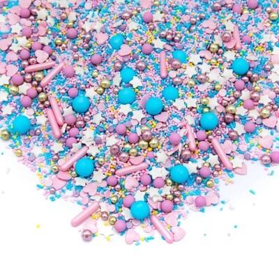 Happy Sprinkles Mix -COTTON CANDY 90g - Μείγμα Ζαχαρωτών σε Πολύχρωμες και Έντονες Αποχρώσεις