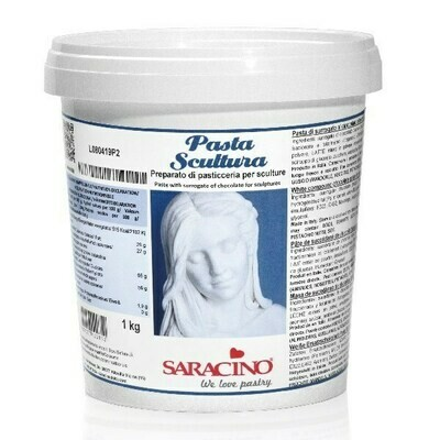 Saracino Sculpting Paste 'SCULPTURA' -WHITE -1 Κιλό - Πάστα Γλυπτικής