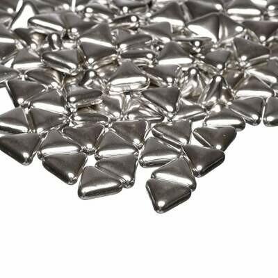 Happy Sprinkles - Metallic -SILVER TRIANGLES 100g - Βρώσιμα Ζαχαρωτά Ασημένια Τρίγωνα