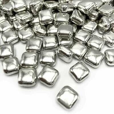 Happy Sprinkles - Metallic -SILVER SQUARES 100g - Βρώσιμα Ζαχαρωτά Ασημένια Τετράγωνα