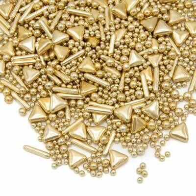 Happy Sprinkles Mix -VINTAGE GOLD GILDING 190g - Μείγμα Ζαχαρωτών σε Χρυσές Αποχρώσεις