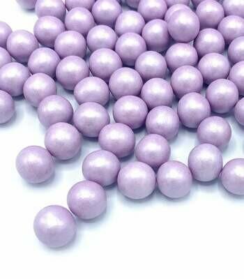 Happy Sprinkles -Choco Dragees -LILAC -MEDIUM 90g - Βρώσιμες σοκολατένιες πέρλες Λιλά Μεσαίες