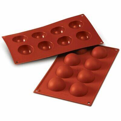 Silikomart - Semisphere Mould -Καλούπι Σιλικόνης για 8 Ημισφαίρια Μεσαία-5εκ