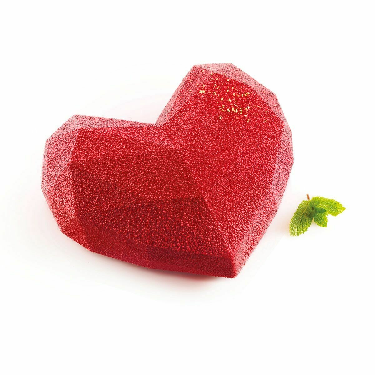 Silikomart Mould Amorini Origami Geometric LARGE Heart - Καλούπι Σιλικόνης για Μεγάλη Γεωμετρική Καρδιά Οριγκάμι
