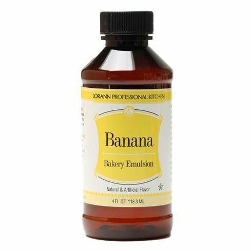 Lorann Bakery Emulsion -BANANA -Γαλάκτωμα Ζαχαροπλαστικής Μπανάνα 118ml